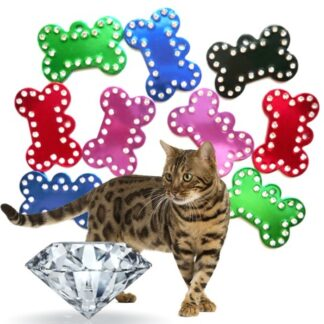 Graviran obesek za muco - diamant