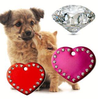 obeski za pse diamant srce