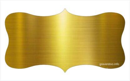 Napisna tablica za vrata zlata GT3