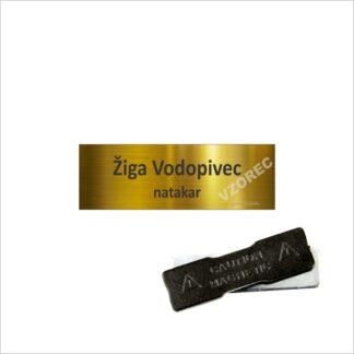 Priponke za zaposlene GT5 Zlata z magnetkom