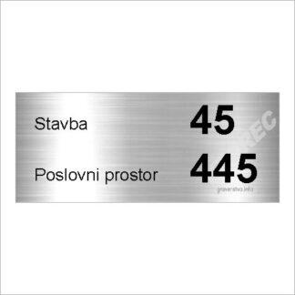 Tablica za poslovni prostor GT11 SREBRNA