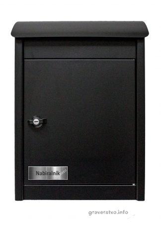 gravirana tablica za poštni nabiralnik srebrna